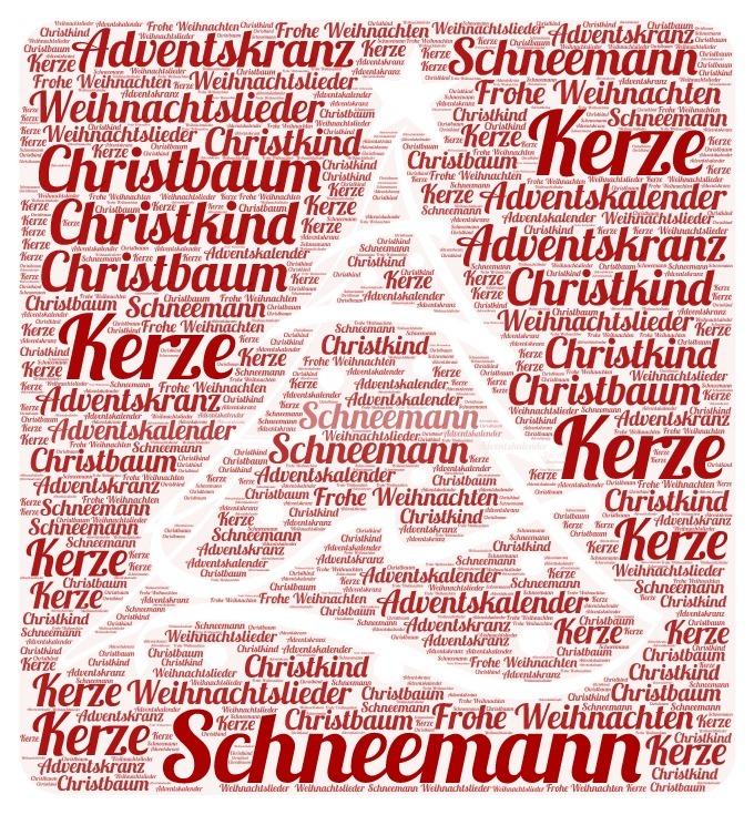 wordcloud-Weihnachtswortschatz